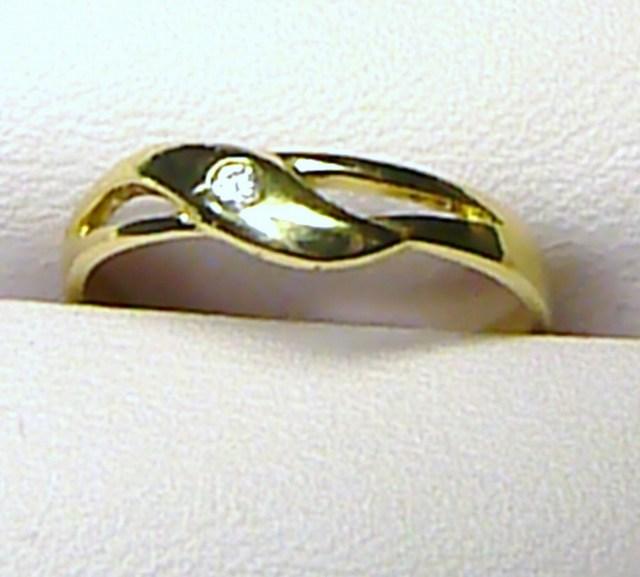 Luxusní zlatý prstýnek se zirkonem 585/1,5 gr - vel 51 T013