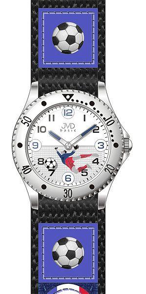 Chlapecké modré fotbalové hodinky JVD basic J7071.1