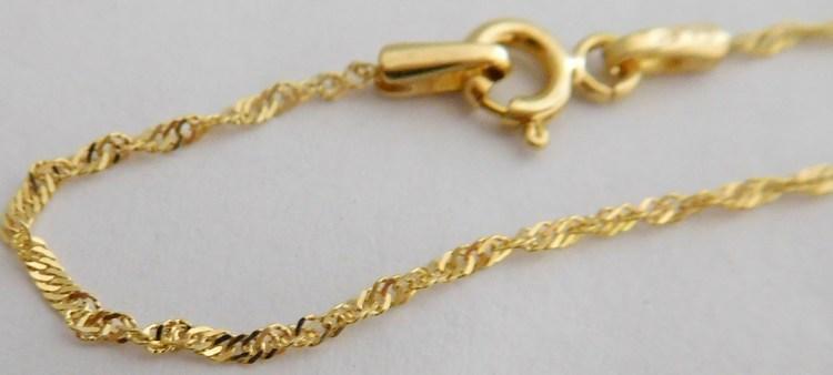 Točený (kroucený) zlatý řetízek TWIST ze žlutého AU 585/1,25gr 50cm 3040001
