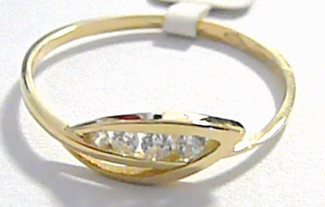 Luxusní zlatý prstýnek ze žlutého zlata vel. 62 585/1,25gr P043