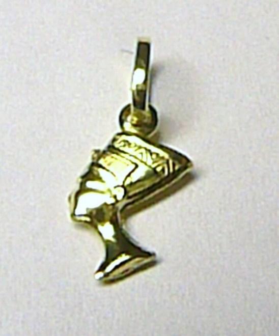 Zlatý přívěsek - zlatá kleopatra ze žlutého zlata 585/0,4gr T041
