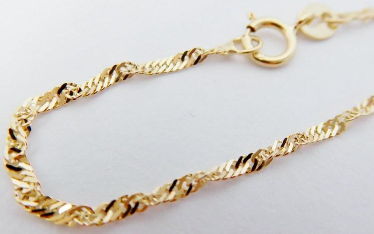Dětský mohutný zlatý řetízek TWIST točený 36cm 585/1,31gr H019