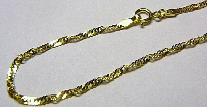 Točený zlatý řetízek ze žlutého zlata TWIST 42m/1,45gr H029