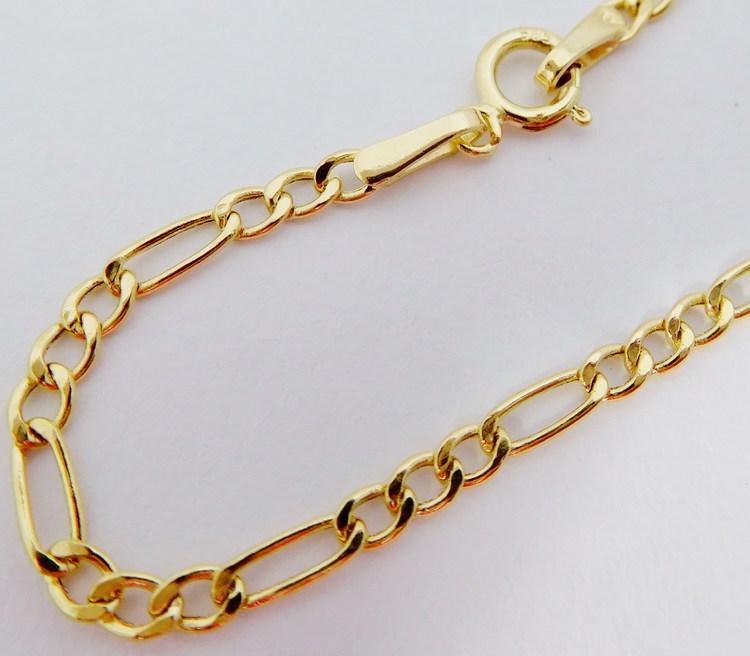 Pánský mohutný zlatý řetízek žluté zlato FIGARO 55cm/1,68gr H045