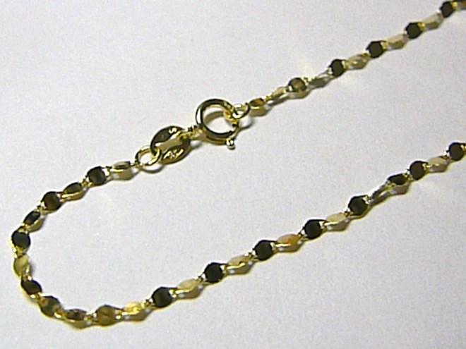 Dámský ploškový zlatý náramek ze žlutého zlata 18cm/0,49gr H047