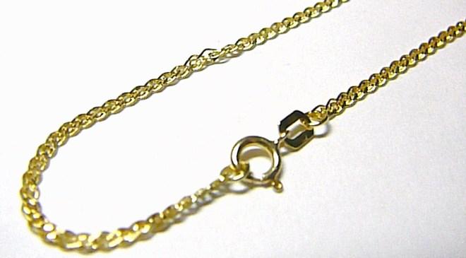 Luxsní mohutný zlatý dívčí náramek 15cm/0,93gr H050