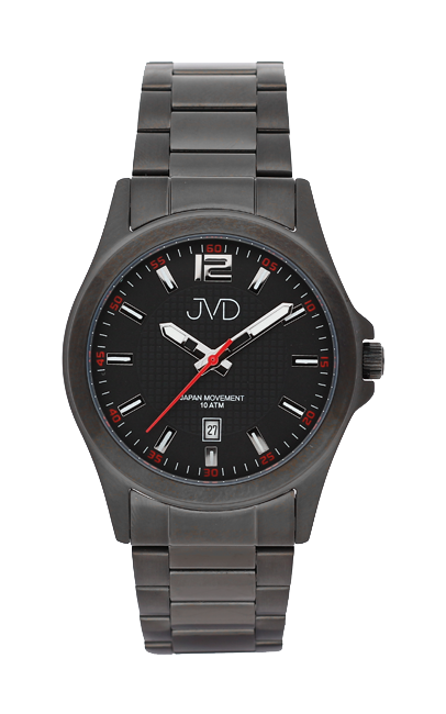 Černé moderní vodotěsné náramkové hodinky JVD steel J1041.5 - 10ATM (POŠTOVNÉ ZDARMA!!!)