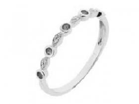 Prsten s diamantem, bílé zlato briliant, smaragd (emerald) (4260020-0-52-96)