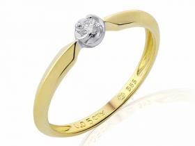 Zásnubní prsten s diamantem, žluté zlato brilianty (3811817-0-52-99)