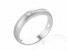 Zásnubní prsten s diamantem, bílé zlato brilianty (3861180-1-55-99)