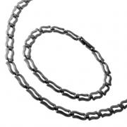 Luxusní řetízek a náramek z chirurgické oceli 316L 320011