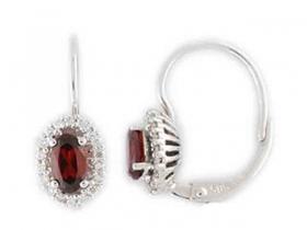 Diamantové náušnice, bílé zlato briliant, černý briliant (3880126-0-0-97)