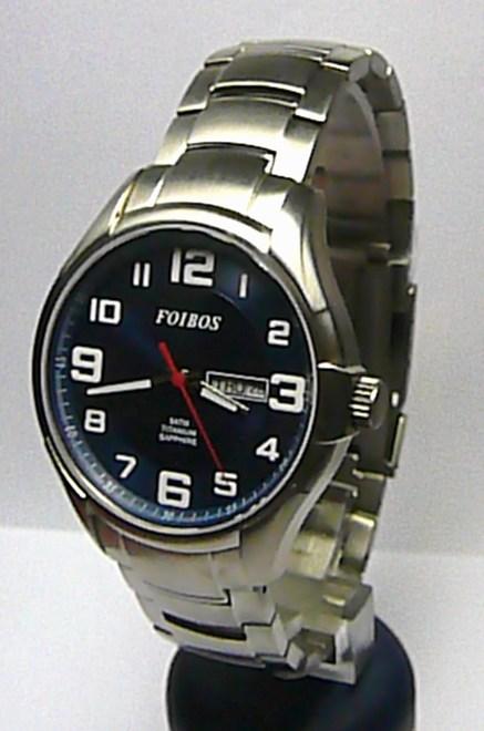Titanové luxusní vodotěsné pánské odlehčené hodinky Foibos 90713 5ATM SAFÍR SKLO