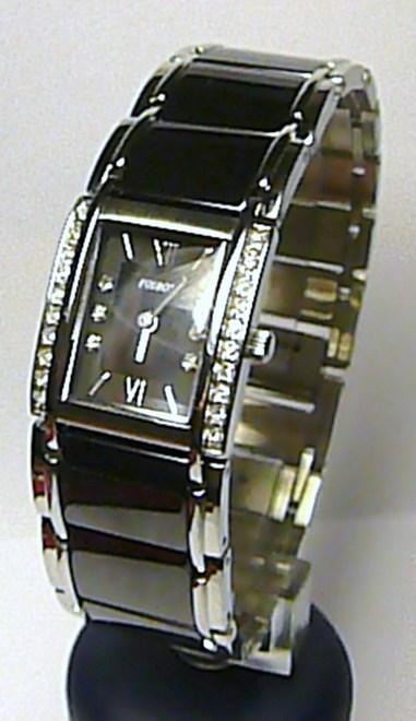 Luxusní dámské společenské keramické hodinky Foibos 1F23 - černá keramika 3ATM (POŠTOVNÉ ZDARMA)