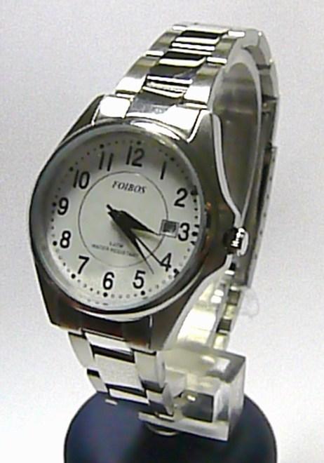 Dámské vodotěsné ocelové stříbrné hodinky Foibos 3883L.1 - 3ATM