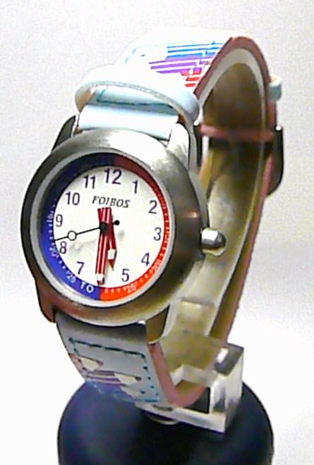 Dívčí dětské holčičí modré hodinky Foibos 8530.3 (pastelky)