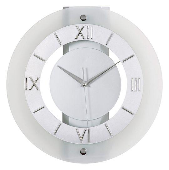 Skleněné luxusní moderní nástěnné hodiny JVD N11.1
