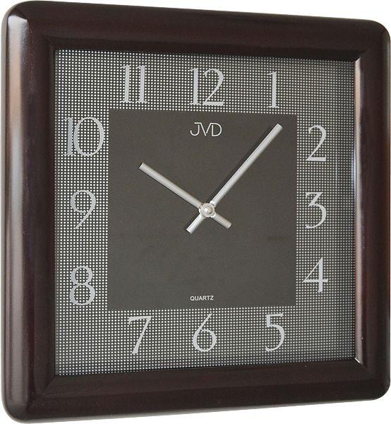 Luxusní designové dřevěné tmavé nástěnné hodiny JVD N12081. 23