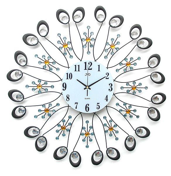 Obrovské paprskovité luxusní nástěnné designové hodiny JVD HJ34 pr. 67cm