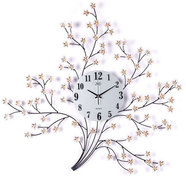 Velké luxusní kovové nástěnné designové hodiny JVD HJ40 pr. 70cm (POŠTOVNÉ ZDARMA!!)
