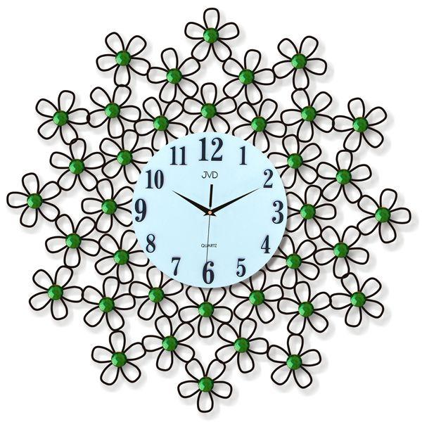 Obrovské mohutné květinové nástěnné designové hodiny JVD HJ10.1