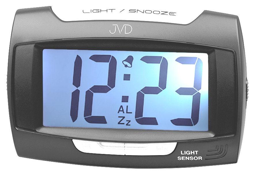 Černý luxusní digitální budík JVD SB91.9