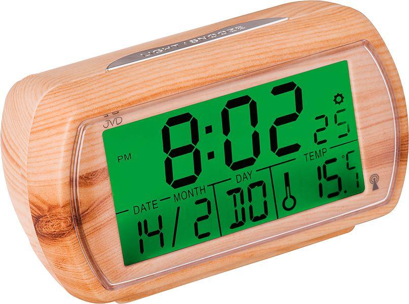 Světle dřevěný rádiem řízený digitální budík JVD RB78.2