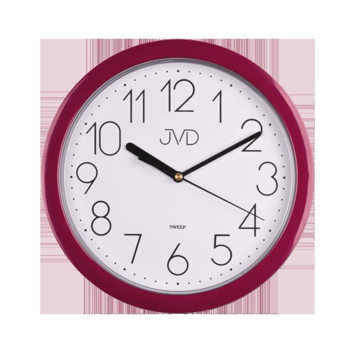 Fialové moderní netikající sweep hodiny JVD HP612.10
