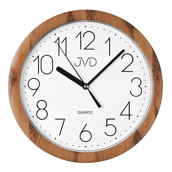 Nástěnné hodiny JVD quartz H612. 19 imitace dřeva - tmavé