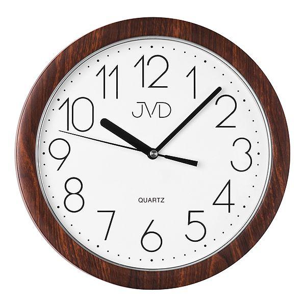 Nástěnné hodiny JVD quartz H612. 20 imitace dřeva tmavé