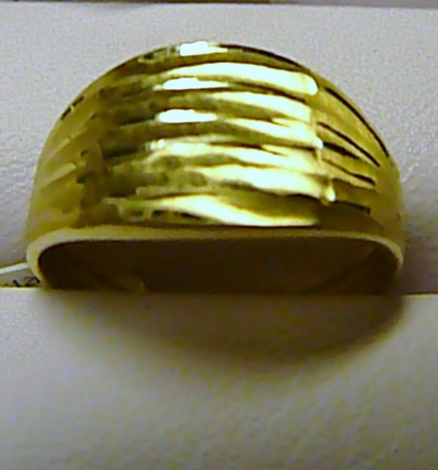 Mohutný celozlatý prsten ze žlutého zlata 585/1,6gr vel. 58 P071