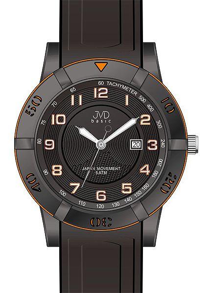 Černé silikonové vodotěsné hodinky JVD basic J3003.2 pro teenagery