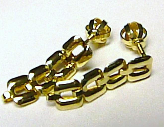 Visací zlaté náušnice ze žlutého zlata na šroubek 585/1,09gr 231470044 (231470044 - POŠTOVNÉ ZDARMA)