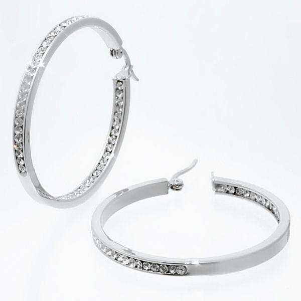 Luxusní ocelové kruhy - náušnice z chirurgické oceli 214121 velké kruhy