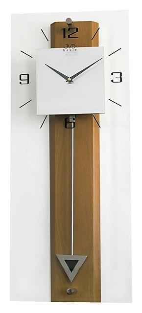 Dřevěné skleněné kyvadlové velké nástěnné hodiny JVD quartz N2233.11 (POŠTOVNÉ ZDARMA!!!!)