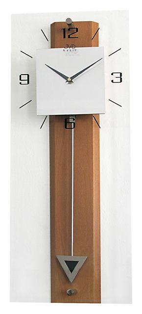 Luxusní moderní medové nástěnné kyvadlové hodiny JVD quartz N2233.41 (POŠTOVNÉ ZDARMA!!!!)