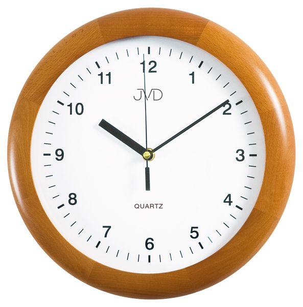 Medové dřevěné nástěnné hodiny JVD quartz N2341.41