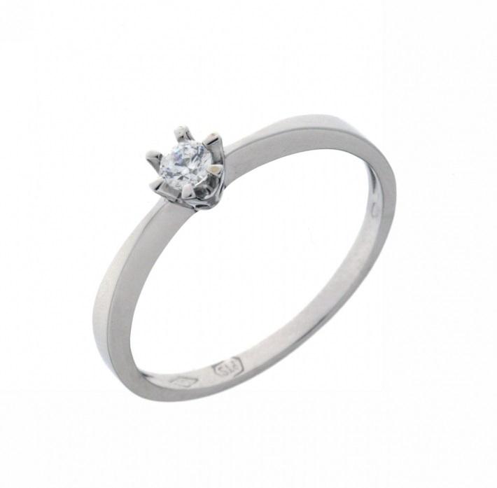 Zlatý moderní luxusní zásnubní prsten bílé zlato zirkon