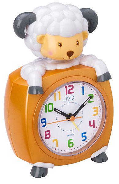 Oranžový dětský budík JVD SR931.3 - ovečka pro děti
