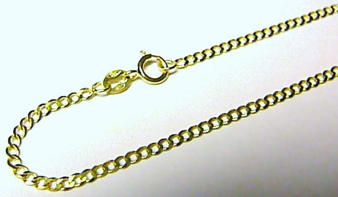 Luxusní mohutný silný zlatý řetízek ze žlutého zlata 585/1,14gr 50cm H055