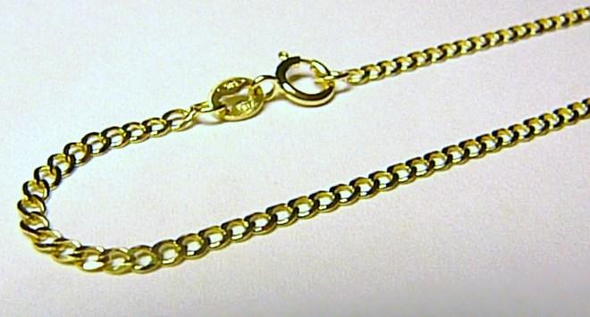 Silný zlatý řetízek ze žlutého zlata 585/0,94gr 42cm H056