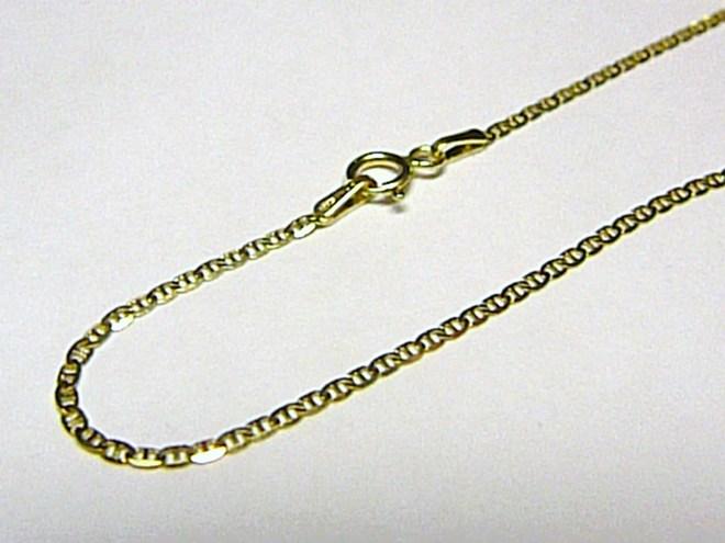 Silný dámský luxusní zlatý řetízek 585/1,45gr 45cm P587