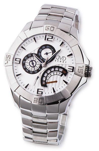 bd201da593f Odolné pánské nerezové náramkové hodinky JVD steel JA620.1 5ATM ...