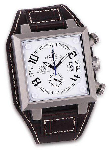 Pánské ocelové chronography náramkové hodinky JVD steel J1055.1