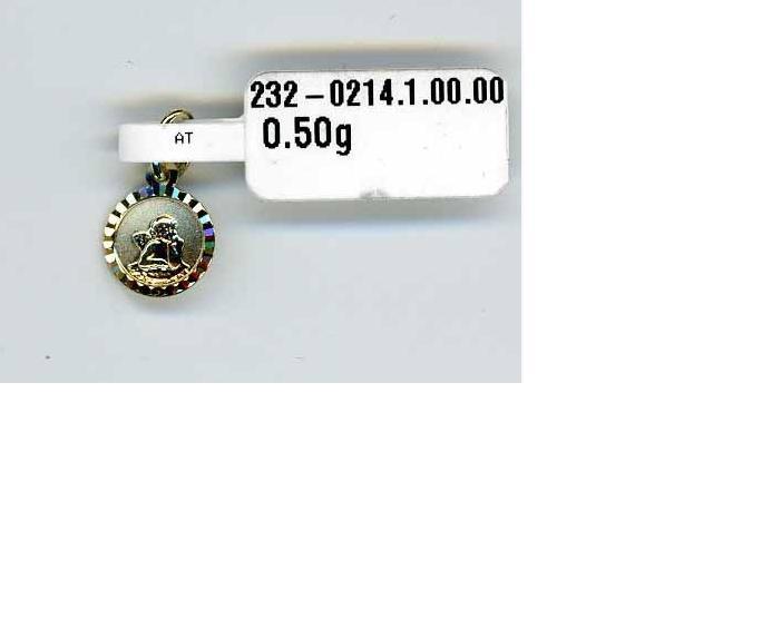 ZLatý přívěsek ze žlutého zlata - andělíček - 585/0,5gr P111 (2320214-1-0-0)