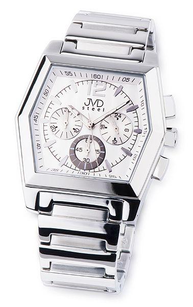 Moderní ocelové pánské náramkové hodinky JVD steel C1126.1