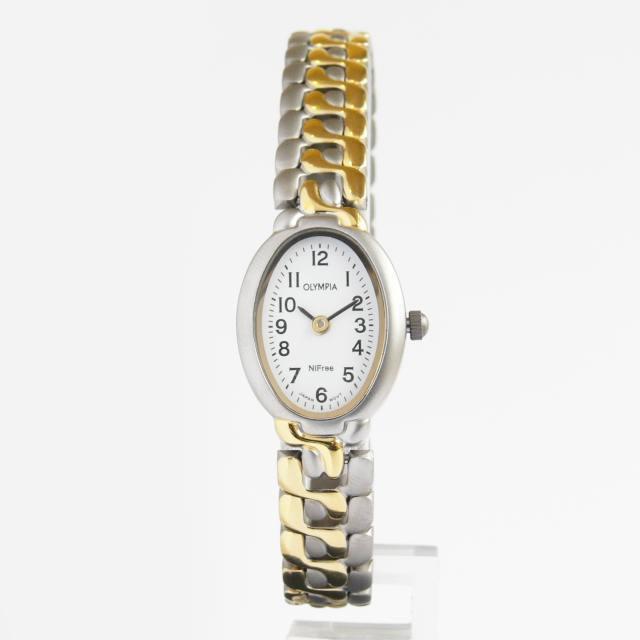 Dámské společenské titanové antialergické oválné hodinky Olympia 10120