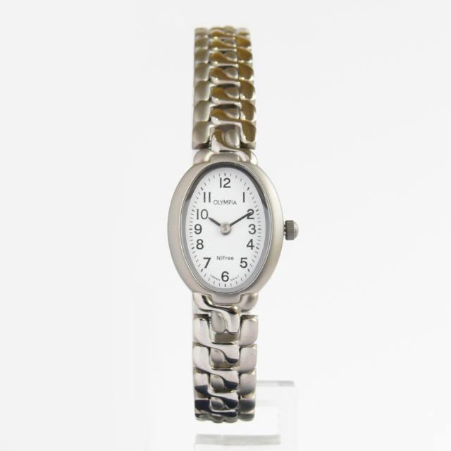 Dámské společenské titanové antialergické oválné hodinky Olympia 10123