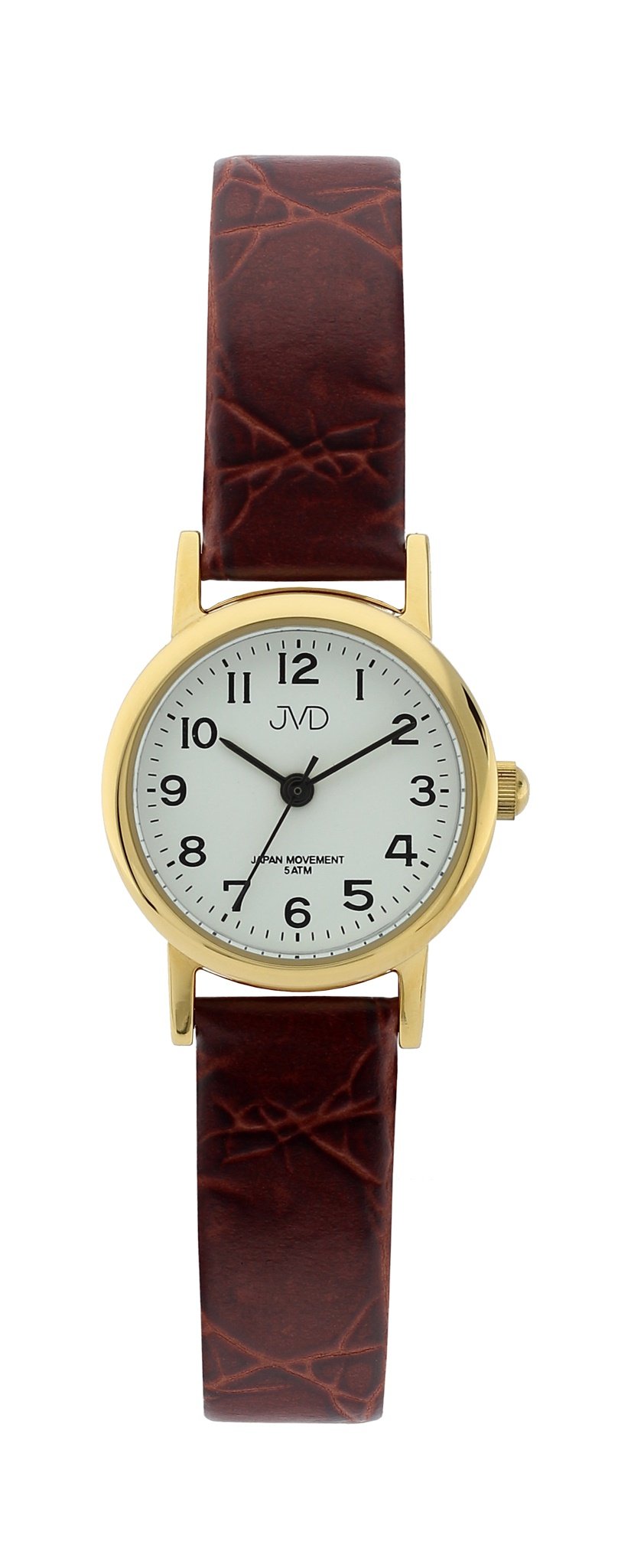Dámské společenské náramkové hodinky JVD steel J4010.1 na koženém pásku