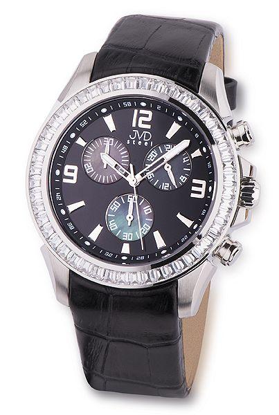 Dámské vodotěsné ocelové chronografy černé hodinky JVD steel C2089.2 10ATM  (POŠTOVNÉ ZDARMA! 81cd4f0986